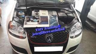 #jetexfilters_vw. #jetexfiltersasialink. VW Golf Mk5 GTI in the house to replaced Jetex high flow performance drop in air filter with 1.14 kpa flow rate washable & reusable....