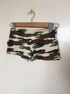 Camo Bootie Shorts