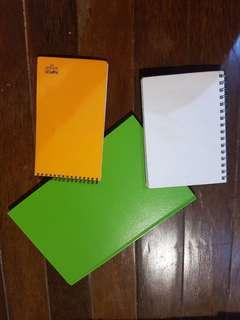 3 note books + free sticky marker