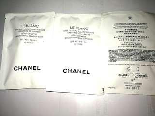 Chanel 3x2.5ml LE BLANC light creator brightening makeup base 10resee 珍珠光采防曬妝前乳SPF 40 / PA+++