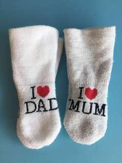 BB襪仔 socks I love ❤️ dad love mom