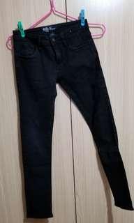 mh - 3 Jean's ~ 黑色 彈力牛仔褲