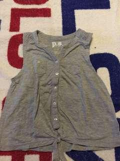 Buttondown tie knot tank