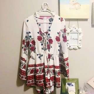 **REDUCED**Bohemian Floral Playsuit Size 8
