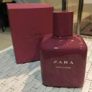 Zara perfume pink flambe