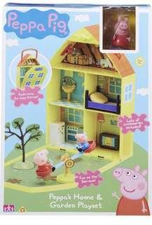 $238 Peppa Pig Home And Garden Playhouse Playset 🐷 小豬屋玩具套裝