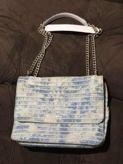 Guess sling / shoulder bag washed denim / jeans