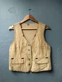 Vintage vest leather