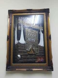 Vintage Kaabah Frame Decoration
