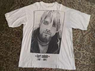 Vintage late 1990s Kurt Cobain (Nirvana) memorial t-shirt