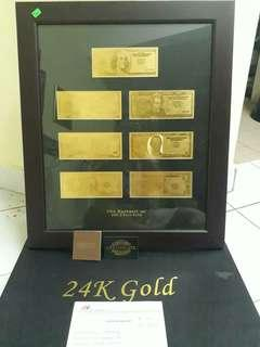 24K Gold Money (Framed)