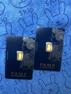 PAMP - weight = 1g per piece (999 Gold) ✅✅✅