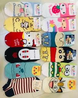 韓國卡通短襪