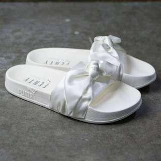 FENTY White Bow Slides