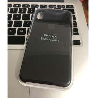 ORIG Apple Silicone Case for iPhone X (Black) with FREEBIE
