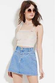 Forever 21 Highwaist Denim Skirt