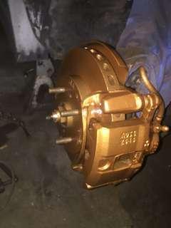 Spray brake pump n drum
