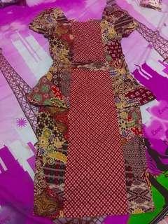 Bodycon dress batik
