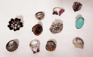 Set of 11 accessory rings