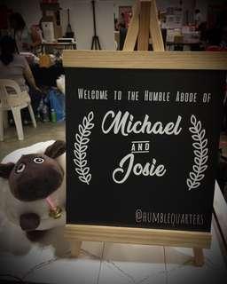 🚚 Personalized Blackboard Signage