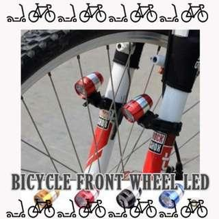 Brand new In stock Bicycle extra bright Front and back wheel LED 1pcs set