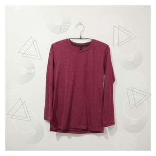 Long Sleeve Top (Faded Red)