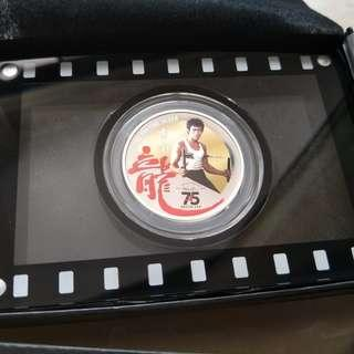 Lee Xiao Long Bruce Lee Legend Of JKD 1 oz 999 Fine Silver Proof Colour Coin