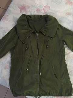 Green army outerwear