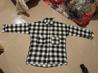 [NEW] Black and White Flannel/Checkered Shirt