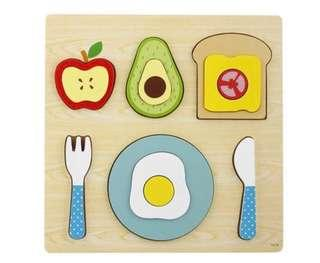 Wooden Breakfast Puzzle