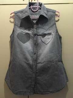 Next denim sleeveless top