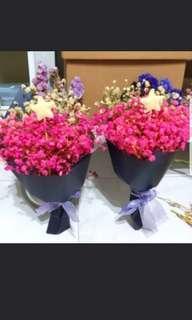 Mini baby breaths bouquet