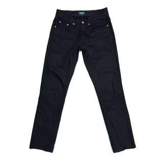 Authentic Coated Denim Skinny Fit Tapered Black Coated