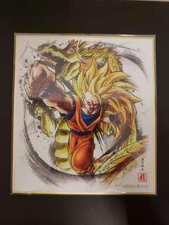 龍珠色紙art 6 龍拳超三悟空