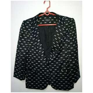 Office blazer with bow prints