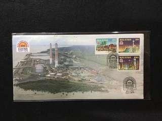 1994 100 Years Of Electricity In Malaysia FDC (Note:Toned Spots On Edges Of Cover)