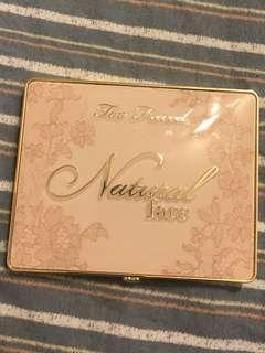 Authentic Too Faced Natural Face Palette