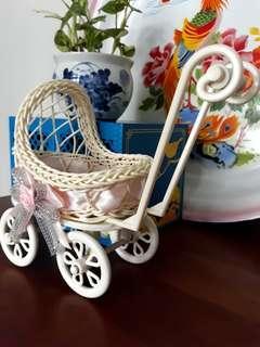 Vintage Weaved Baby Pram