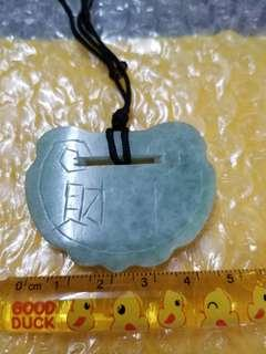 舊玉 平安扣 (舊工) Old Chinese Carved Jade: Green buckle