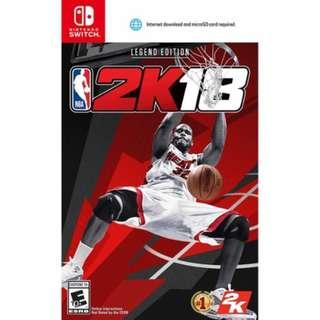 Nintendo Switch NBA 2K18 Legend Edition