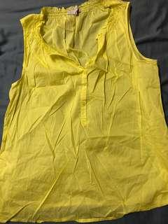 Loft yellow cotton top