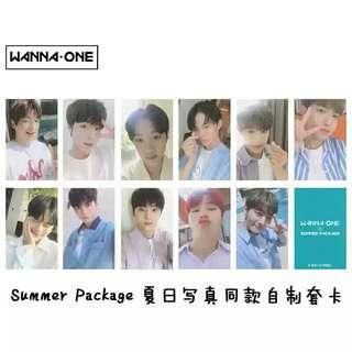 [ PO ] WANNA ONE SUMMER PACKAGE PHOTOCARDS SET