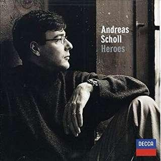 Andreas Scholl - Heroes ** Autographed (Decca, Imported from Germany)