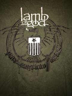 Lamb of god band tee