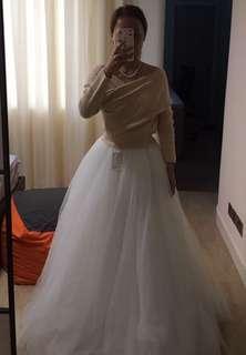[適合婚紗外影] 購自台灣白色紗裙