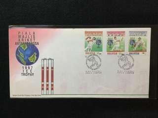 1997 International Cricket Council Trophy FDC (Toned Spots On Cover)