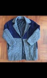 包sf自取。topshop color black coat