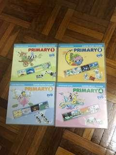 Full sets of Yamaha Junior Music Primary 1-4 DVD / Full sets