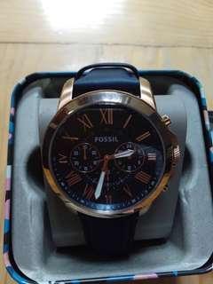 Fossil Men's Grant FS4835 Strap blue