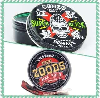 Free Doorstep Delivery 📦 [Combo Pomades-Gonzo Super Slick Pomade +Zoods Max Hold Classic Edition]